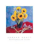 Sunflowers and Irises