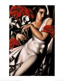 Portrait d'Ira Reproduction d'art par Tamara De Lempicka
