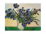 Iris dans un vase Reproduction d'art par Vincent Van Gogh