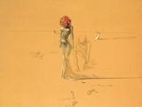 Femme à la tête de roses, 1937 Reproduction d'art par Salvador Dalí
