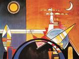La grande tour de Kiev Reproduction d'art par Wassily Kandinsky