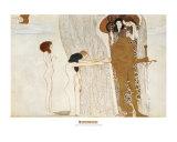Beethoven Frieze: Desire For Happiness, c.1902 Reproduction d'art par Gustav Klimt