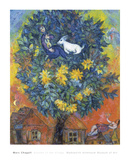 L'automne au village Reproduction d'art par Marc Chagall