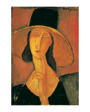 Portrait of a Woman (Jeanne Hebuterne) in Large Hat  c1918