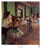 La classe de danse Reproduction d'art par Edgar Degas