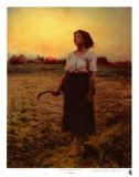 Le chant de l'alouette Reproduction d'art par Jules Breton