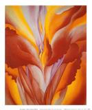 Canna rouge Reproduction d'art par Georgia O'Keeffe
