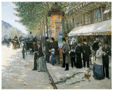 Paris on the Boulevard  1890