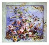 Roses dans une fenêtre Reproduction d'art par Pierre-Auguste Renoir