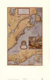 Dominions/North America Reproduction d'art par Herman Moll