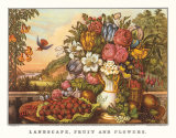 Landscape  Fruit and Flowers