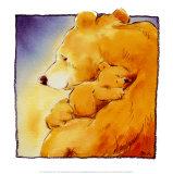L'amour d'une maman ourse I Reproduction d'art par Makiko