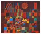 Château et soleil Reproduction d'art par Paul Klee