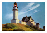 Phare de Two Lights Reproduction d'art par Edward Hopper