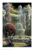 Jardin Fleuri au Jet d'Eau