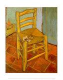 La chaise à la pipe Reproduction d'art par Vincent Van Gogh