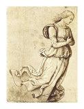 Sepia Woman Dancing