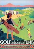 Golf de la Soukra - Tunis Reproduction d'art par Roger Broders