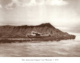 Pan American Clipper over Waikiki  Hawaii  1935