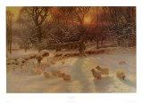 La journée d'hiver raccourcie Reproduction d'art par Joseph Farquharson