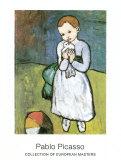 L'enfant à la colombe (1901) Reproduction d'art par Pablo Picasso