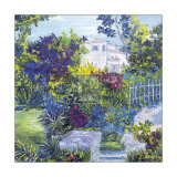 Maison sur la Côte d'Azur Reproduction d'art par T. Forgione