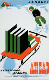 Historic Reading Posters - January  A Year of Good Reading Ahead