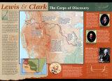 Carte de Lewis et Clark Reproduction d'art