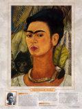 Femmes artistes remarquables - Frida Kahlo - Autoportrait au singe Reproduction d'art par Frida Kahlo