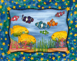 Sous la mer Reproduction d'art par Marnie Bishop Elmer