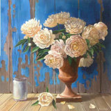 Aged Wood and Peonies