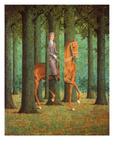 Le blanc-seing Reproduction d'art par Rene Magritte