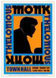 Thelonius Monk - Town Hall, NYC 1959 Reproduction d'art par Dennis Loren