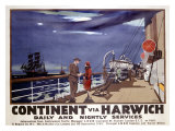 Continent via Harwich