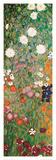 Jardin fleuri, détail Reproduction d'art par Gustav Klimt