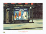 La pharmacie Reproduction d'art par Edward Hopper