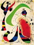 Nuit Reproduction d'art par Joan Miró