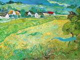 Sunny Meadow in Arles, c.1890 Reproduction d'art par Vincent Van Gogh