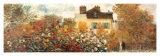 Le jardin de l'artiste à Argenteuil (détail) Reproduction d'art par Claude Monet