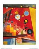 Rouge lourd Reproduction d'art par Wassily Kandinsky