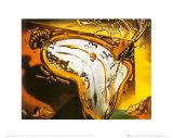 Montre molle au moment de la première explosion, 1954 Reproduction d'art par Salvador Dalí