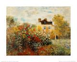 Le jardin de l'artiste à Argenteuil Reproduction d'art par Claude Monet