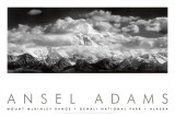 Mont McKinley, nuages, parc national de Denali, Alaska, 1948 Reproduction d'art par Ansel Adams