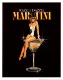 Affiche Martini, Razzle Dazzle Reproduction d'art par Ralph Burch