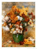 Vase of Chrysanthemums