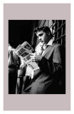 Elvis Presley Reading the Paper in London  1958