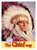 Santa Fe Railroad  Indian Chief  1955