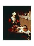 Old Woman Praying  Circa 1656