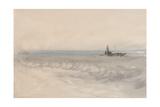 Grey Sea  Boat Running Ashore  C1845-50