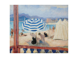 Cannes  Blue Parasol and Tents
